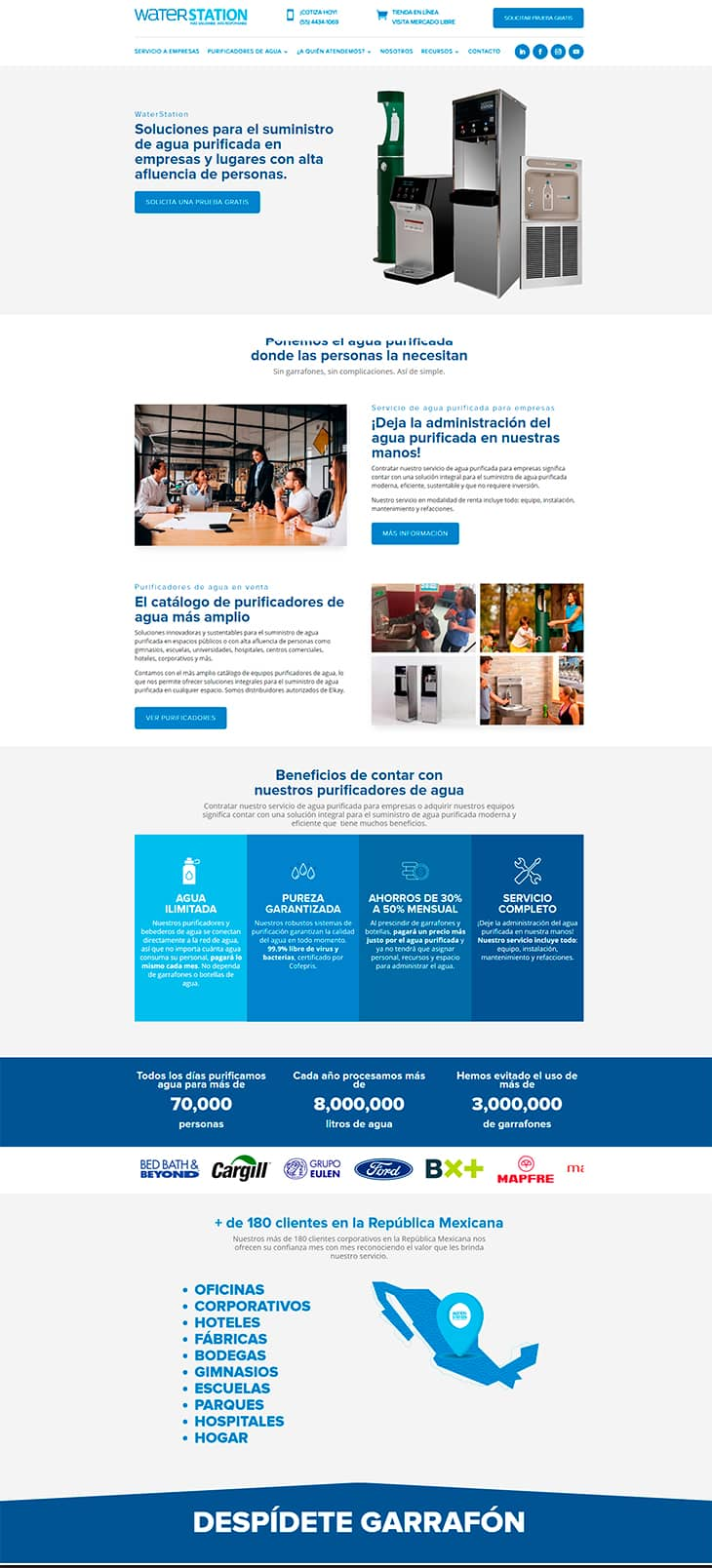 Rediseño Sitio Web WS Ejemplo Home Page