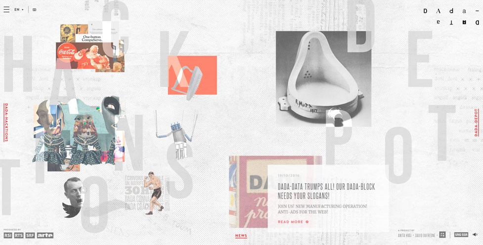 Tendencias diseño web 2020: Ejemplo uso cuadrícula asimétrica