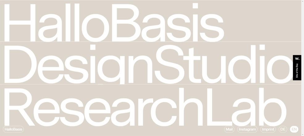Tendencias diseño web 2020: Ejemplo tipografía gran tamaño