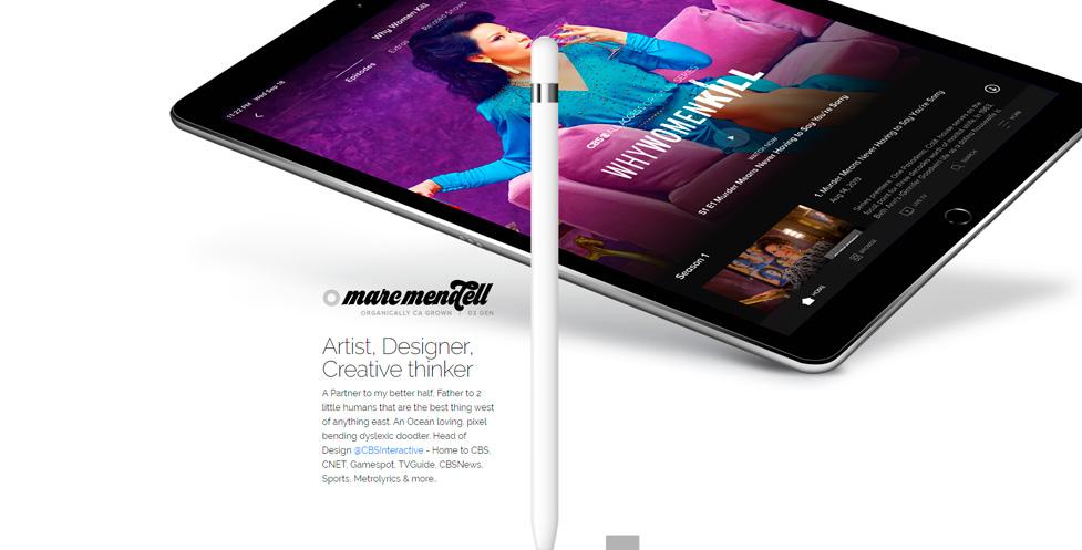 Tendencias diseño web 2020: Ejemplo uso sobras, capas, elementos flotantes