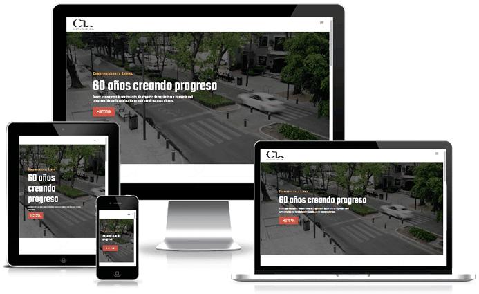 Diseño Páginas Web Responsive Construcciones Lerma