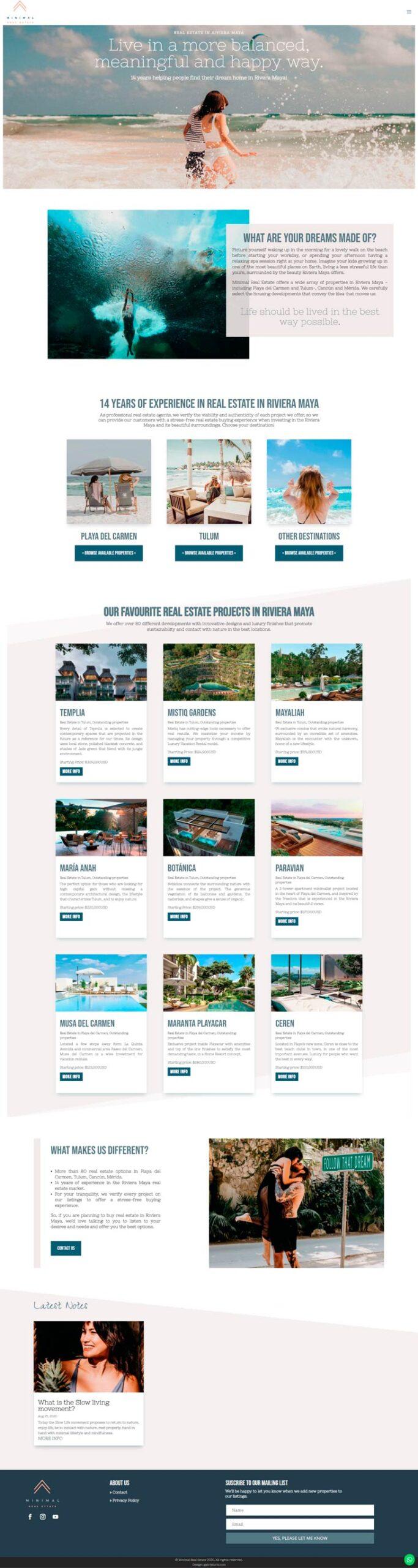 Ejemplo Sitio Web Bienes Raíces