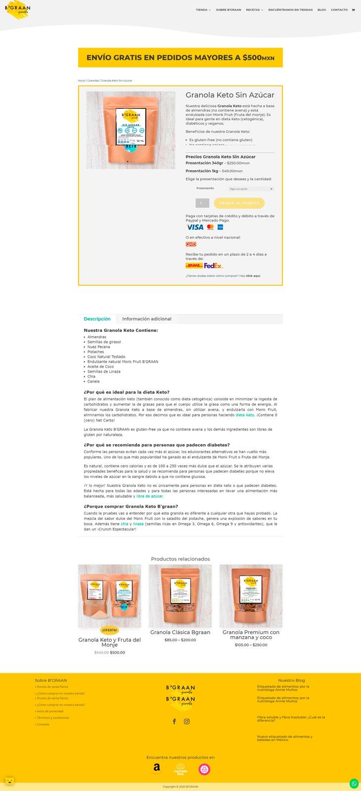 Ejemplo Pagina Producto B'graan