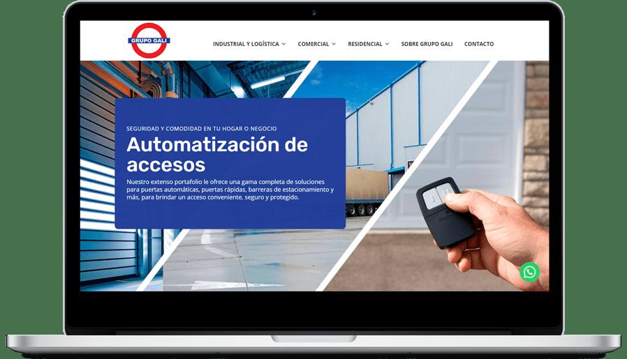 Desarrollo página web Grupo Gali