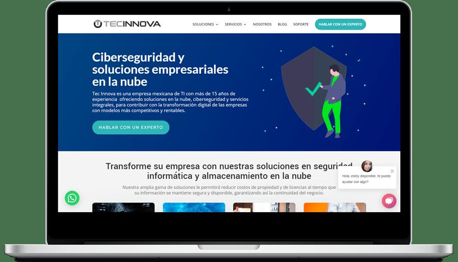 Estrategia SEO y Rediseño Sitio Web Tec Innova